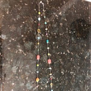 Silpada long necklace, colorful necklace